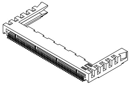 Samtec , MB1 Female PCBEdge Connector, SMT Mount, 30 Way, 1 Row, 1mm Pitch