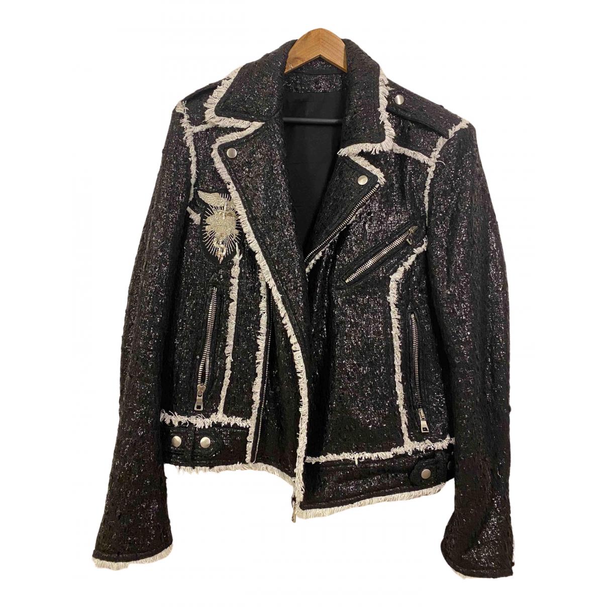 Balmain - Vestes.Blousons   pour homme en laine - noir