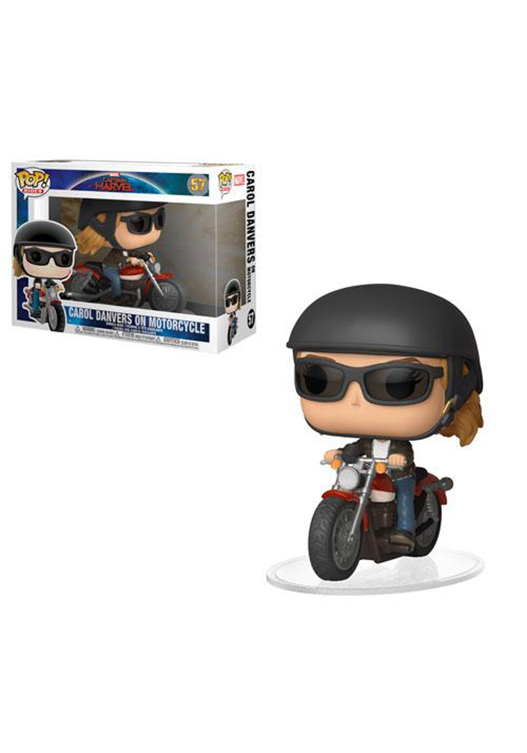 Pop! Ride: Marvel: Carol Danvers Bobblehead on Motorcycle- Captain Marvel