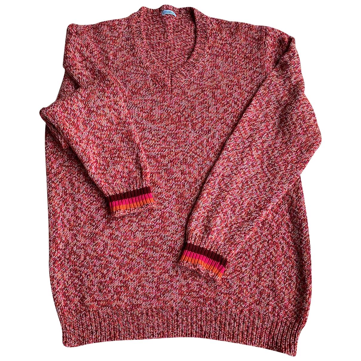 Malo \N Pullover.Westen.Sweatshirts  in  Rot Kaschmir