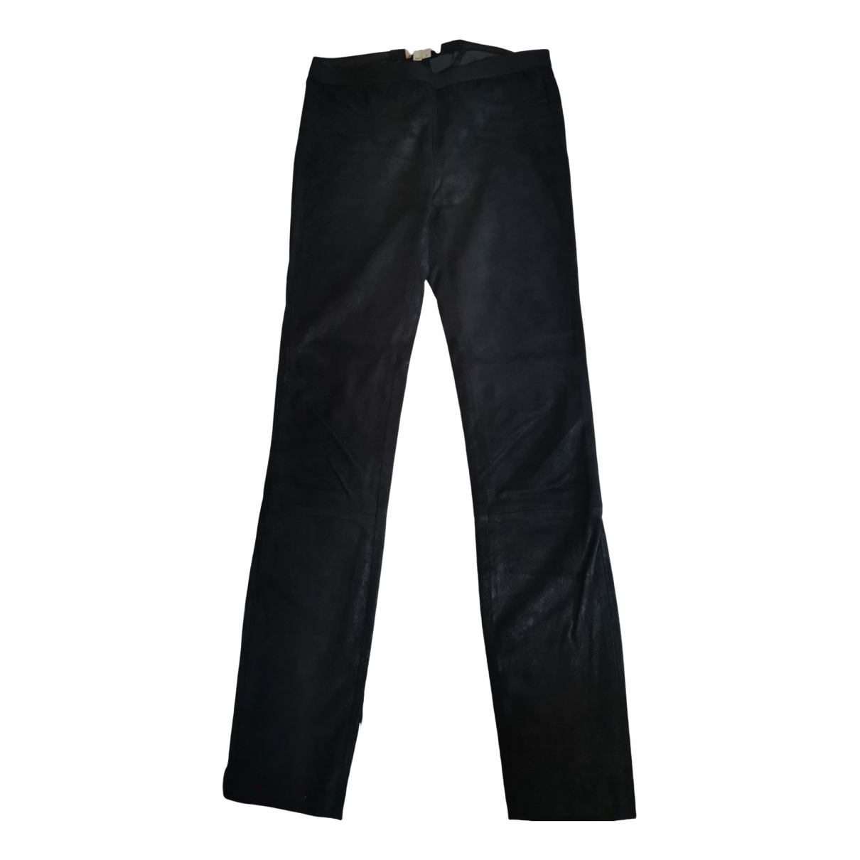 Helmut Lang \N Black Leather Trousers for Women 0 0-5