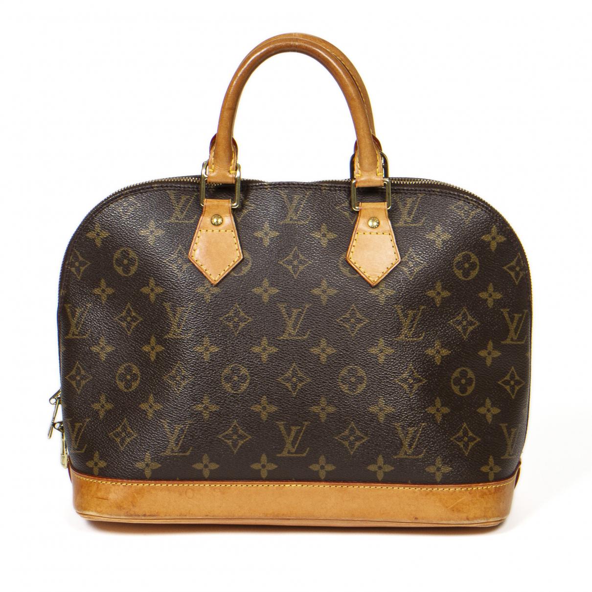 Louis Vuitton Alma Handtasche in  Braun Leder