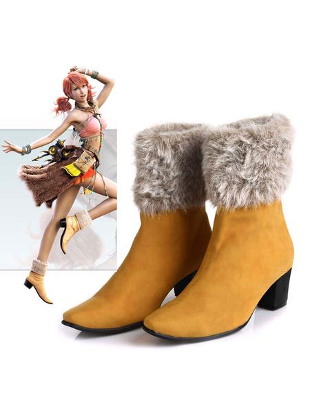 Milanoo Final Fantasy XIII Oerba Dia Vanille Halloween Cosplay Shoes