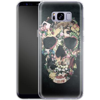 Samsung Galaxy S8 Plus Silikon Handyhuelle - Vintage Skull von Ali Gulec