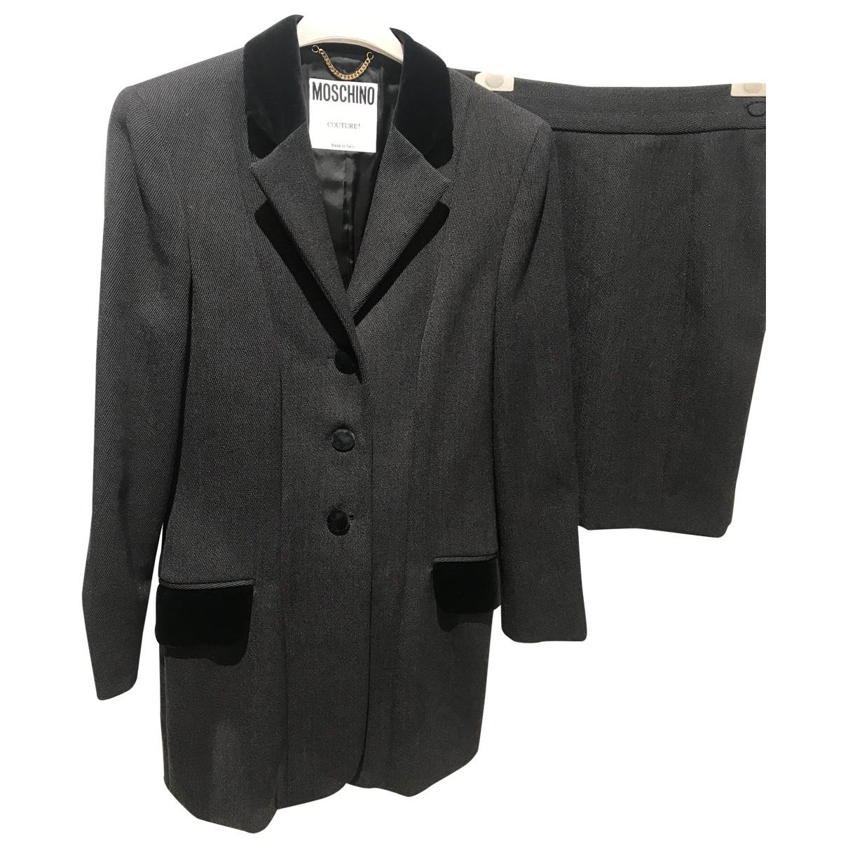 Moschino - Veste   pour femme en laine - gris