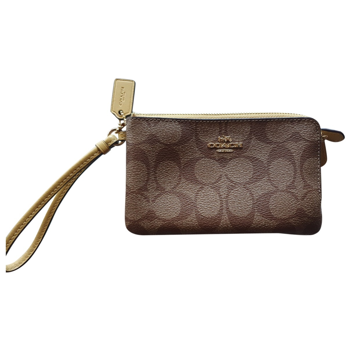 Coach \N Brown Leather Clutch bag for Women \N