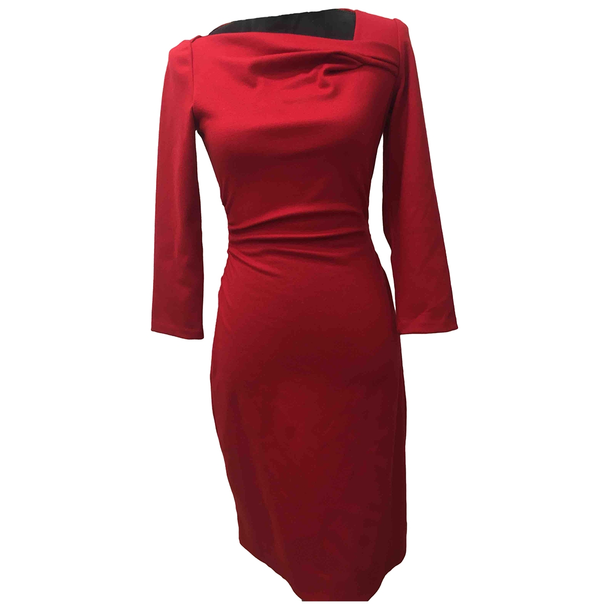 Diane Von Furstenberg \N Kleid in  Rot Wolle