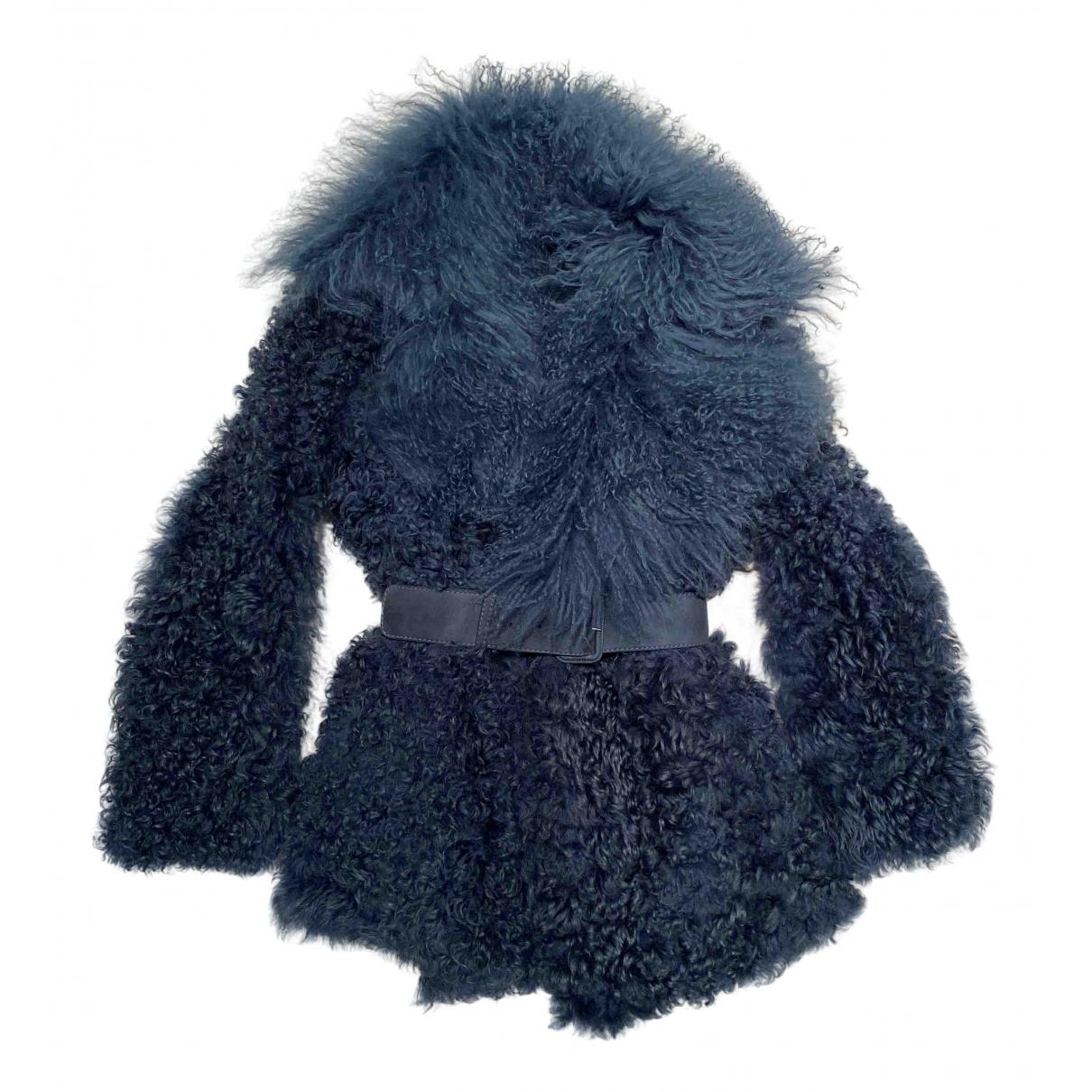 Gucci - Manteau   pour femme en mouton - bleu