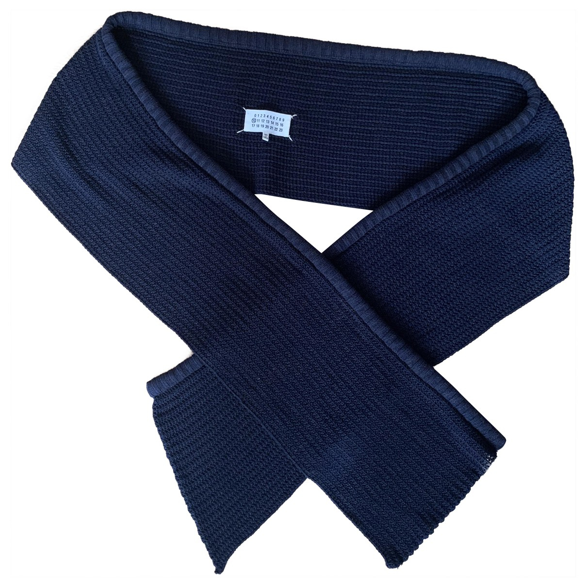 Maison Martin Margiela N Blue Wool scarf & pocket squares for Men N