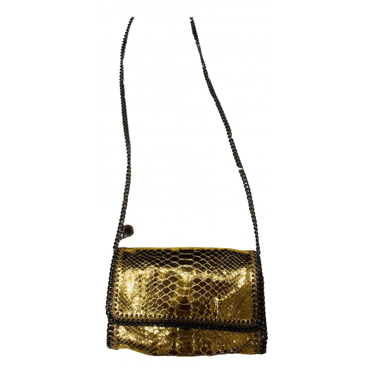 Stella Mccartney \N Handtasche in  Gold Leinen