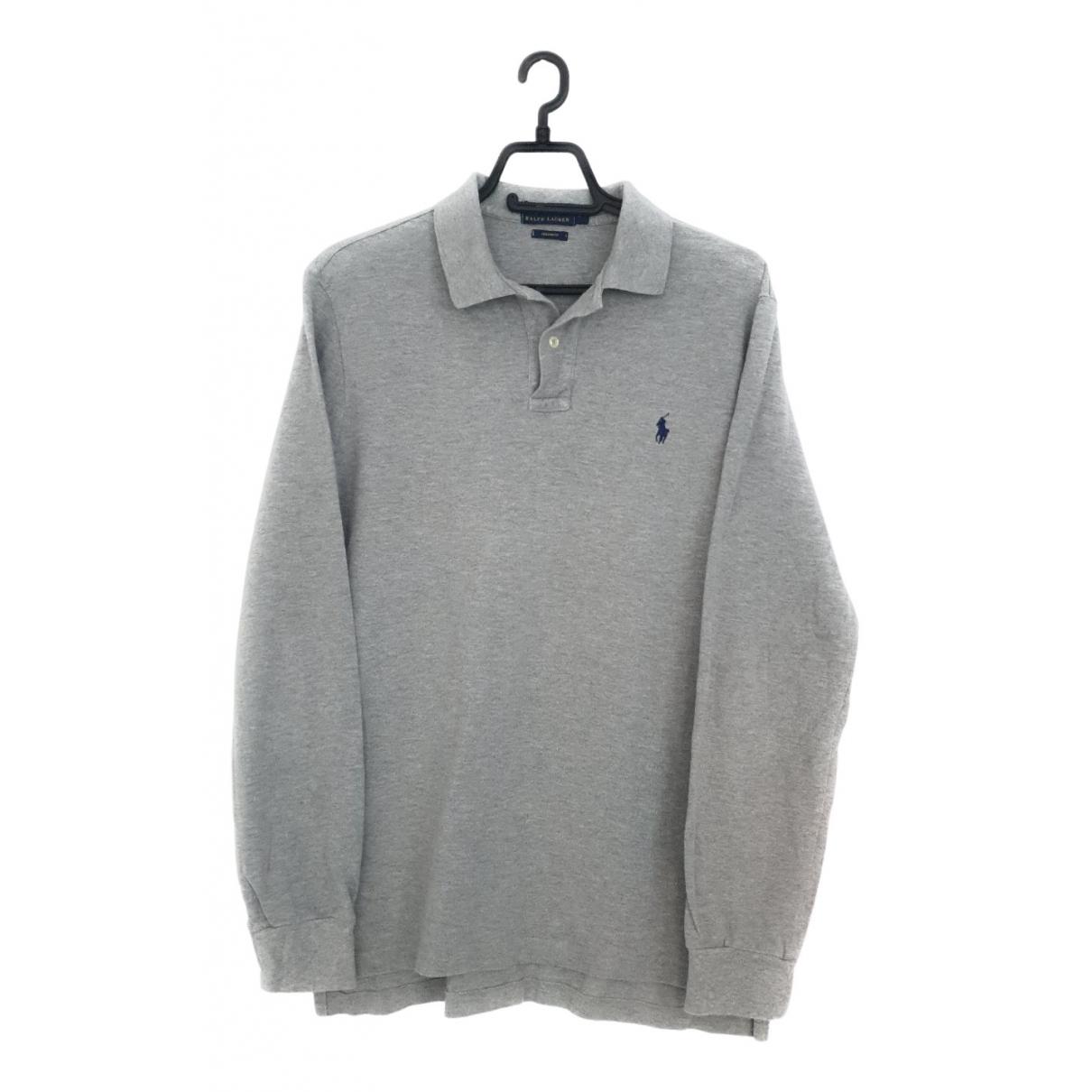 Polo Ralph Lauren - Polos Polo classique manches longues pour homme en coton - gris