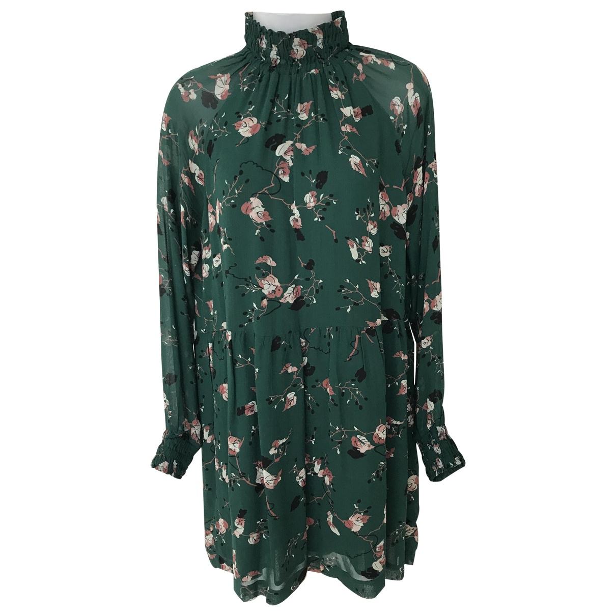 Ganni \N Kleid in  Gruen Viskose