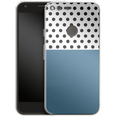 Google Pixel XL Silikon Handyhuelle - Blue Dots von caseable Designs