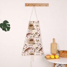 Coffee Beans Print Apron