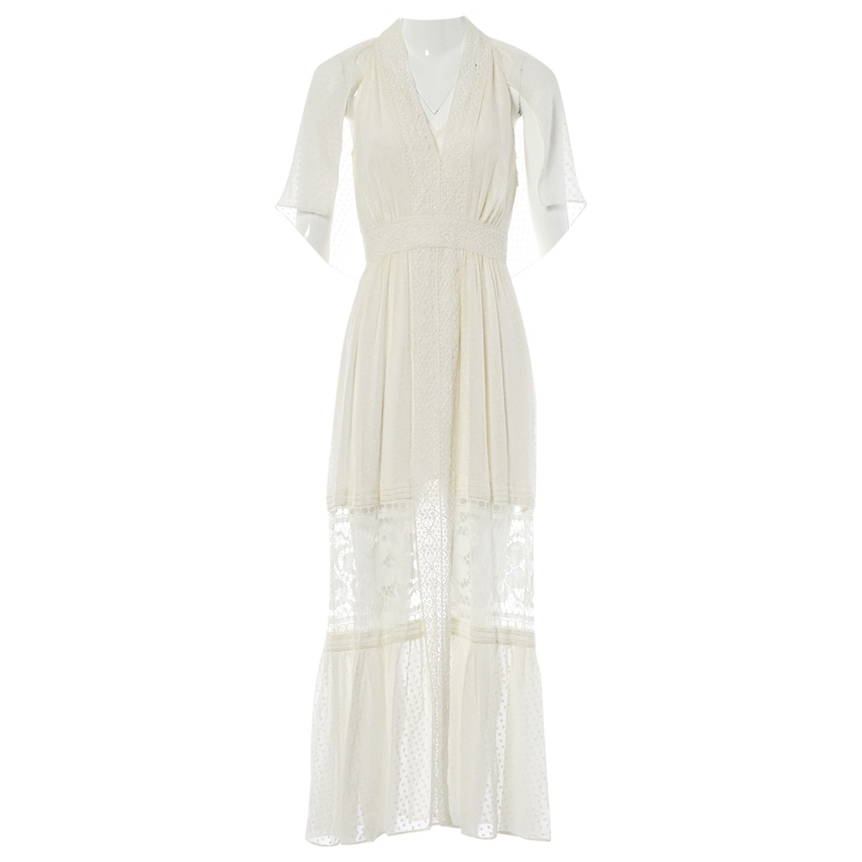 Temperley London \N Kleid in  Ecru Seide
