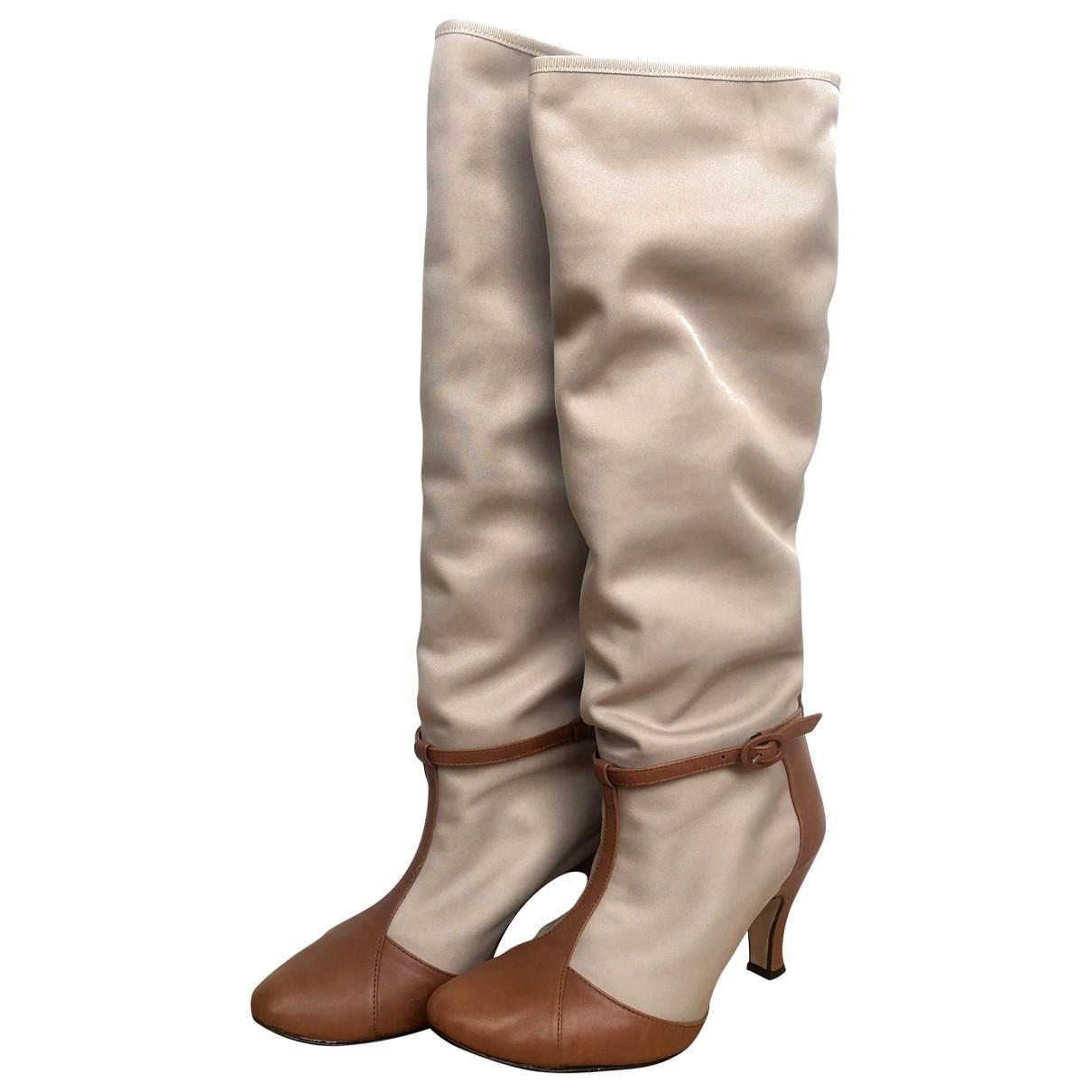 Repetto - Bottes   pour femme en toile - beige