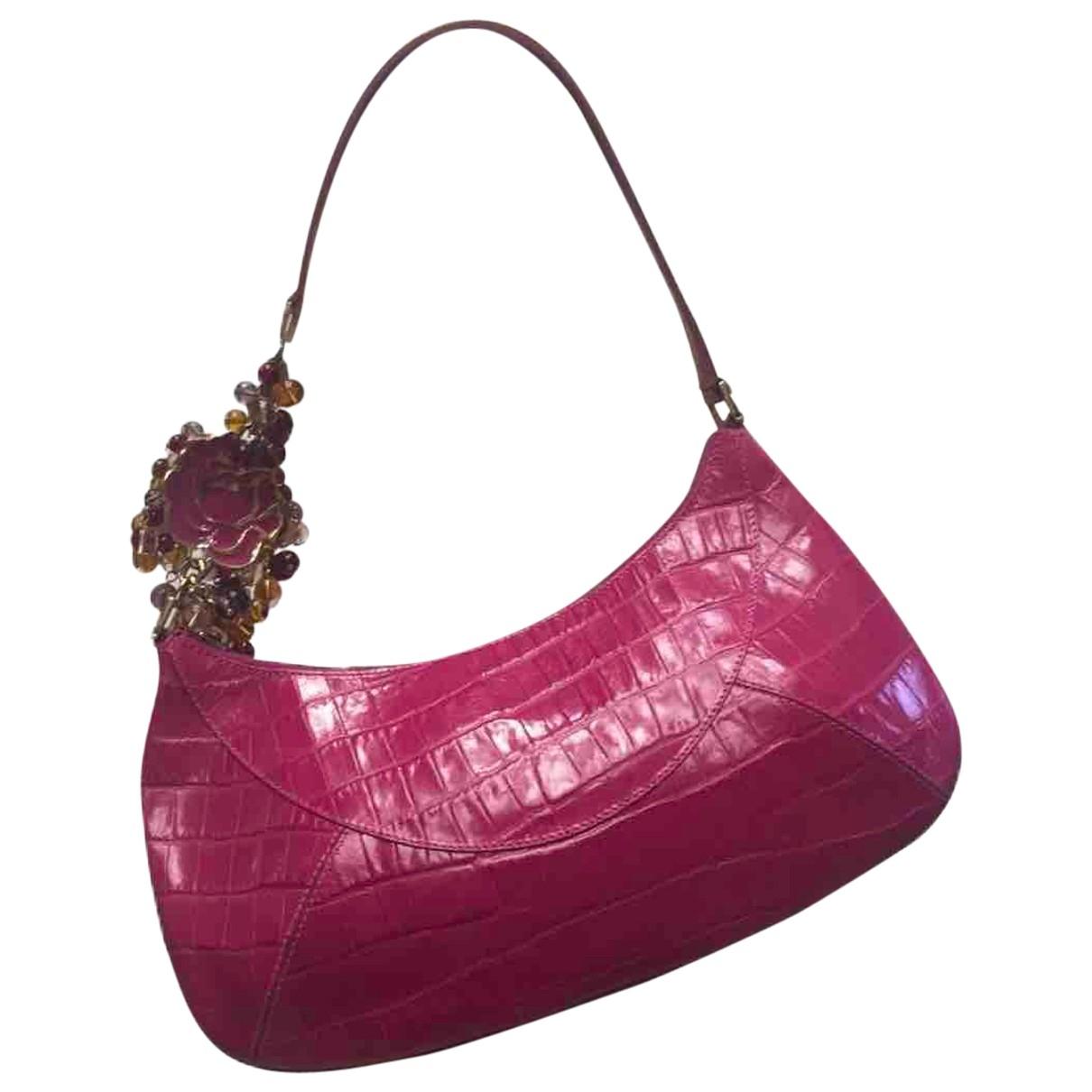 Gianni Versace - Sac a main   pour femme en cuir - rose