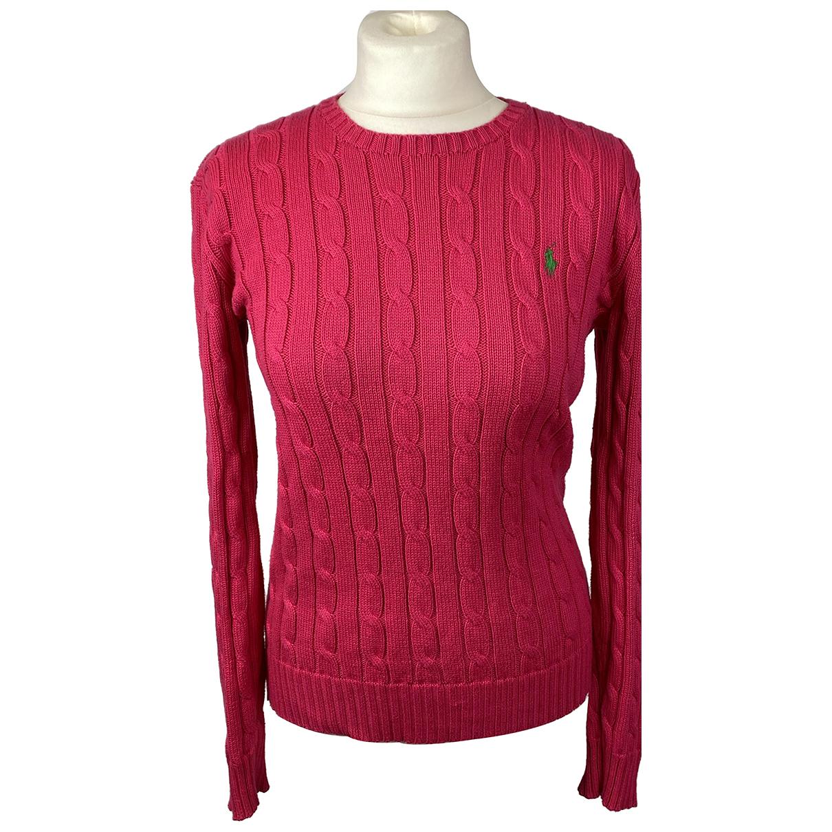 Polo Ralph Lauren - Pull   pour femme en coton - rouge