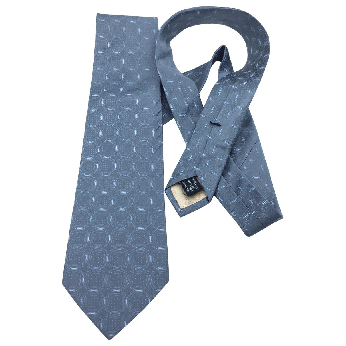 Gucci \N Krawatten in  Grau Seide