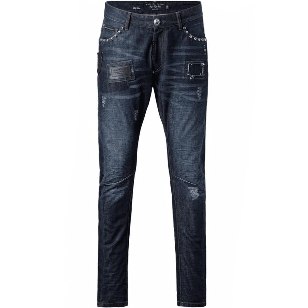 """Philipp Plein """"Love Jeans"""" Biker Jeans  Colour: BLUE, Size: 36 30"""