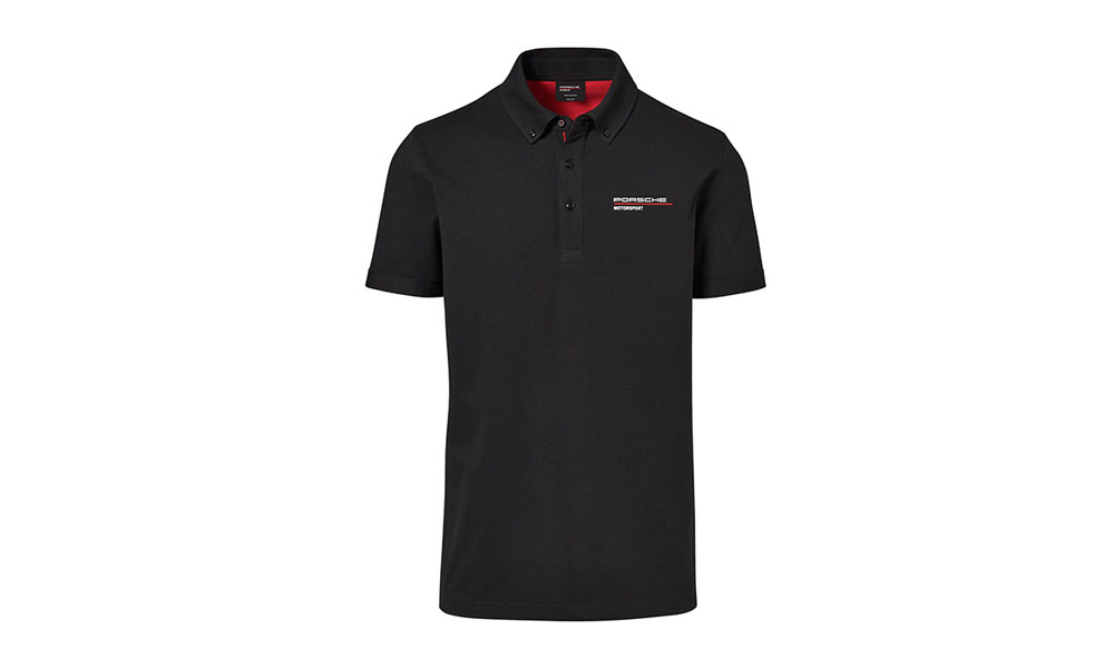 Porsche Driver Selection Motorsport Fanwear Collection Men's Black Polo Shirt Large