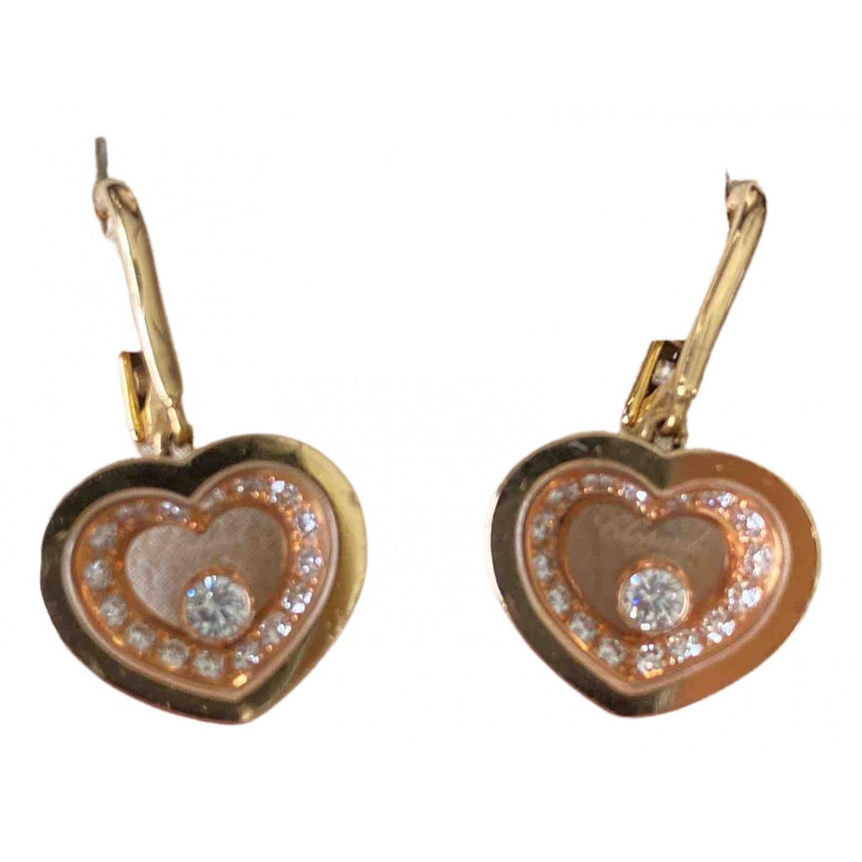 Chopard - Boucles doreilles Happy Diamonds pour femme en or rose
