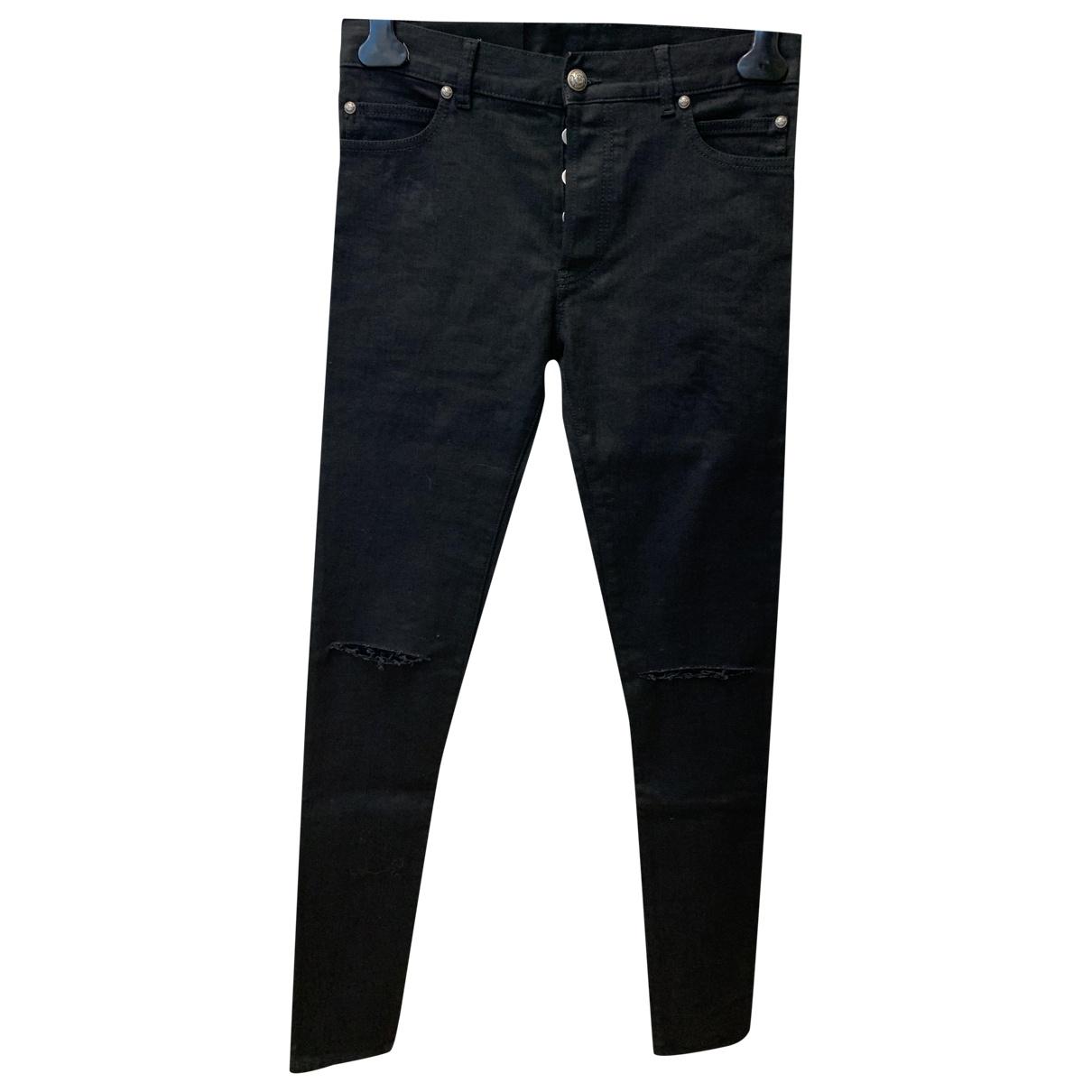 Balmain \N Black Cotton Jeans for Men 32 US