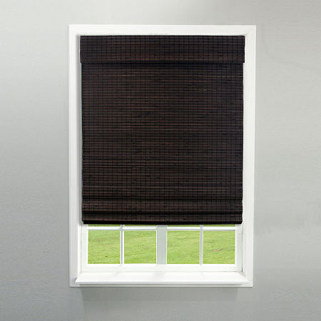 Radiance Newport Cordless Bamboo Privacy Weave Roman Shade, One Size , Brown