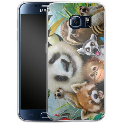 Samsung Galaxy S6 Silikon Handyhuelle - Zoo Selfie von Howard Robinson