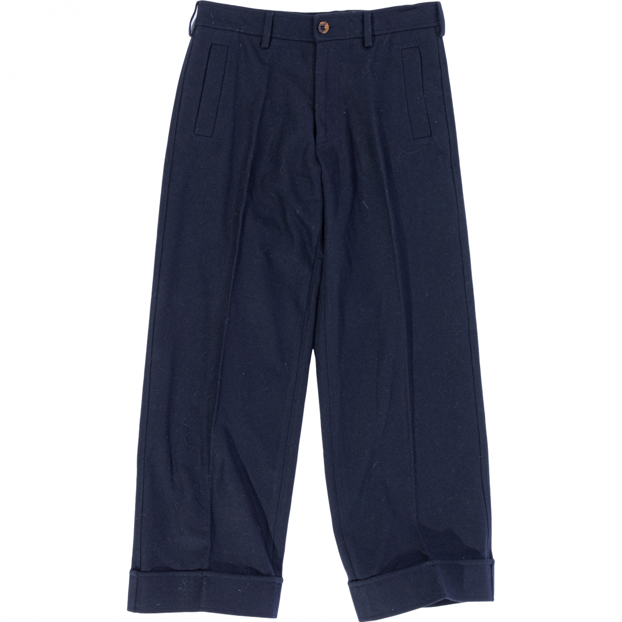 Dsquared2 \N Navy Wool Trousers for Men 48 IT