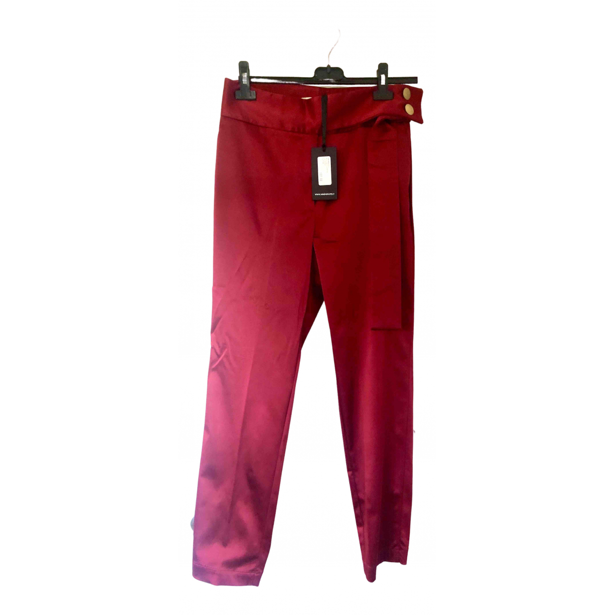 Nineminutes \N Red Trousers for Women 44 IT
