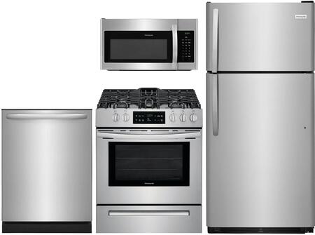 4 Piece Kitchen Appliance Package with FFTR1821TS 30