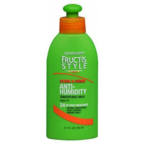 Garnier Fructis Style Sleek Shine Anti-Humidity Strong Smoothing Milk 5.1 oz by Garnier Fructis