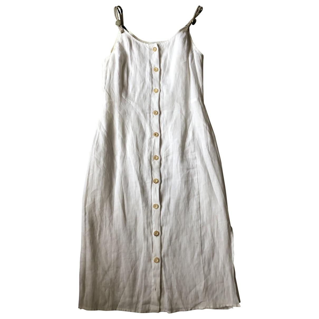 Altuzarra \N White Linen dress for Women 36 FR