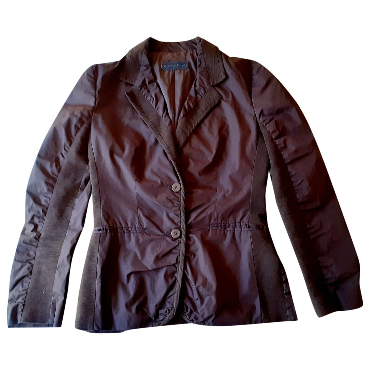 Non Signe / Unsigned \N Jacke in  Braun Polyester