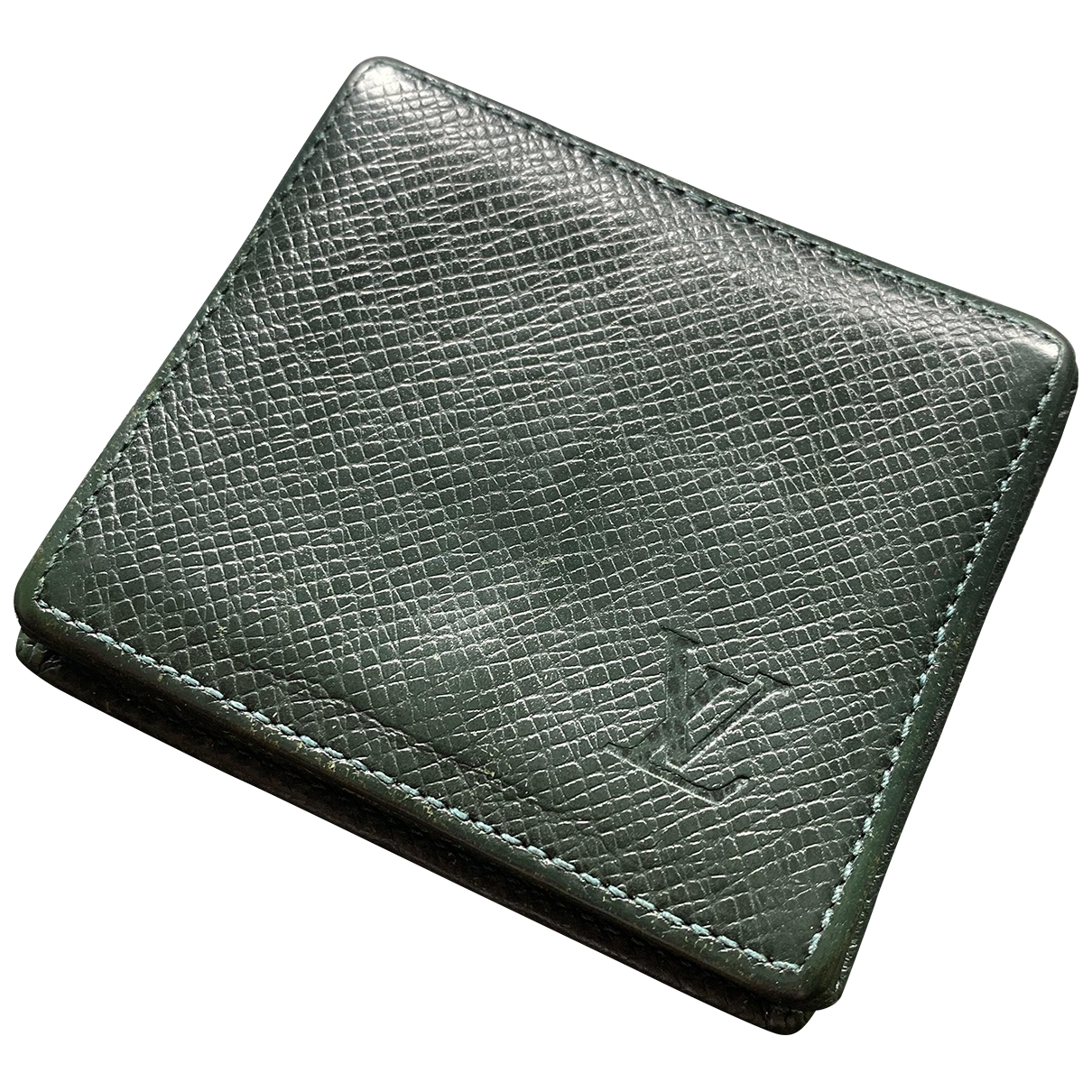 Louis Vuitton \N Green Leather Small bag, wallet & cases for Men \N