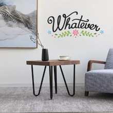 Pegatina de pared con letra