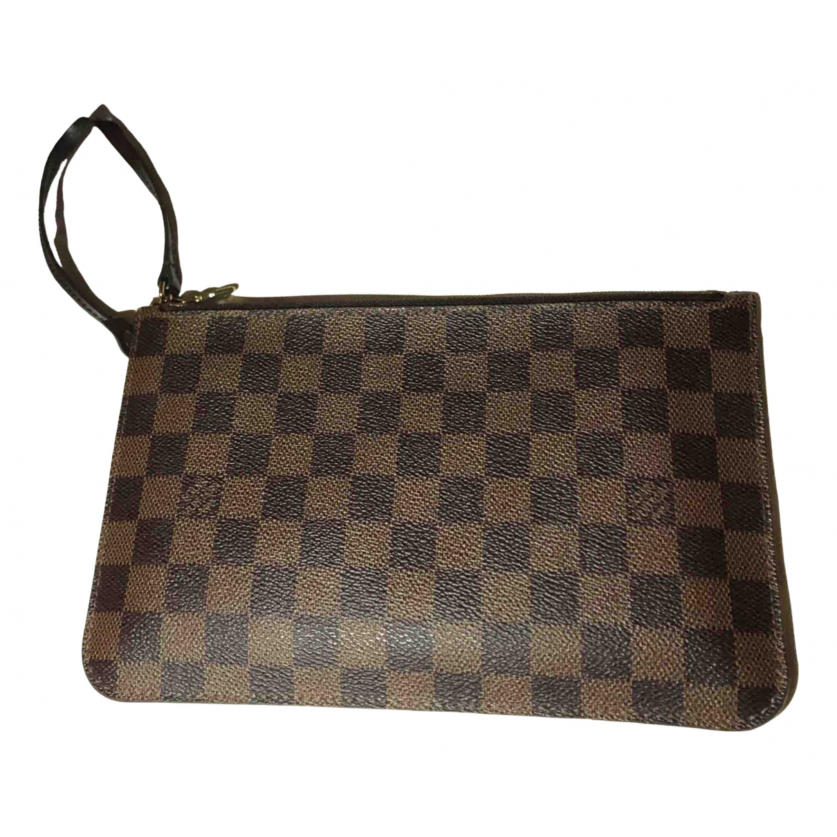 Louis Vuitton Neverfull Brown Cloth Clutch bag for Women \N
