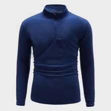 Sports Sweatshirt mit halbem Reissverschluss