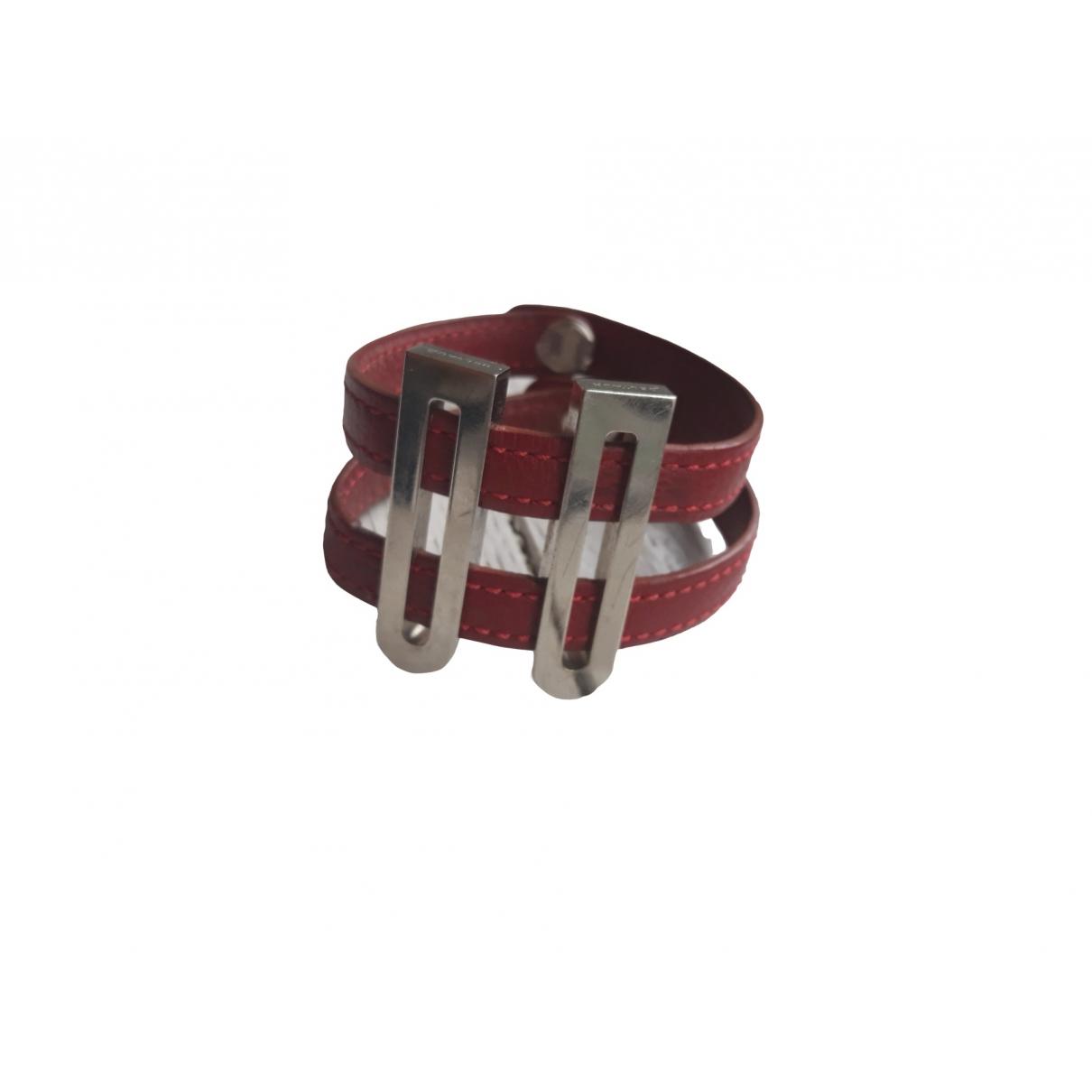 Delvaux \N Armband in  Bordeauxrot Leder