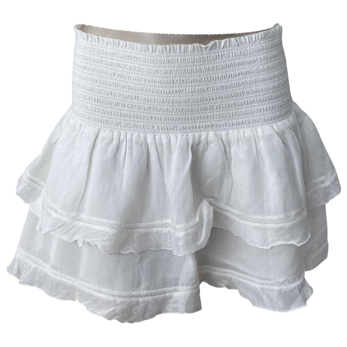 Isabel Marant Etoile N White Cotton skirt for Women 40 IT
