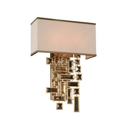 Vermeer 11190-038-FR001 2-Light Wall Bracket in Brushed Champagne Gold Finish with Firenze Clear