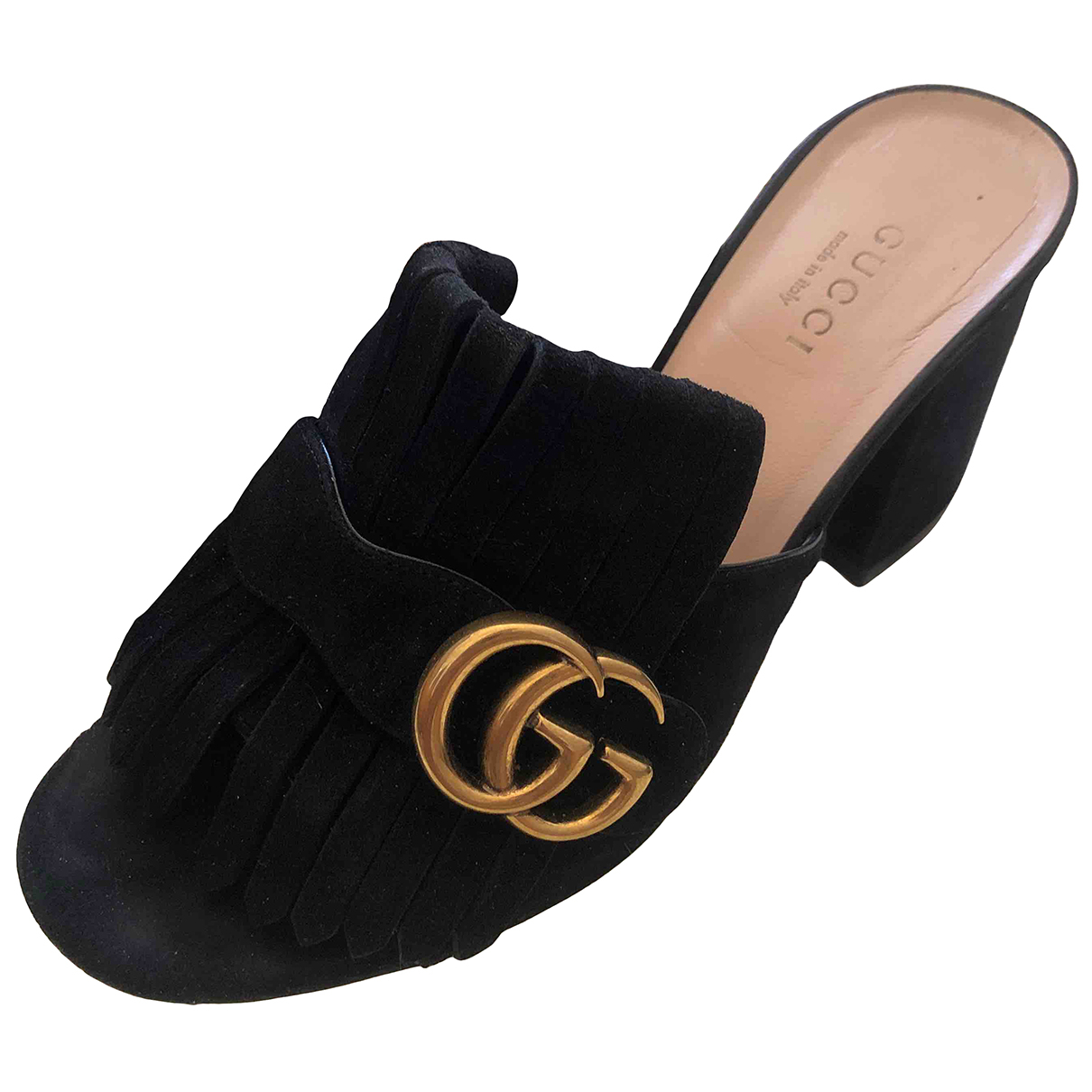 Gucci - Sandales Marmont pour femme en velours - noir