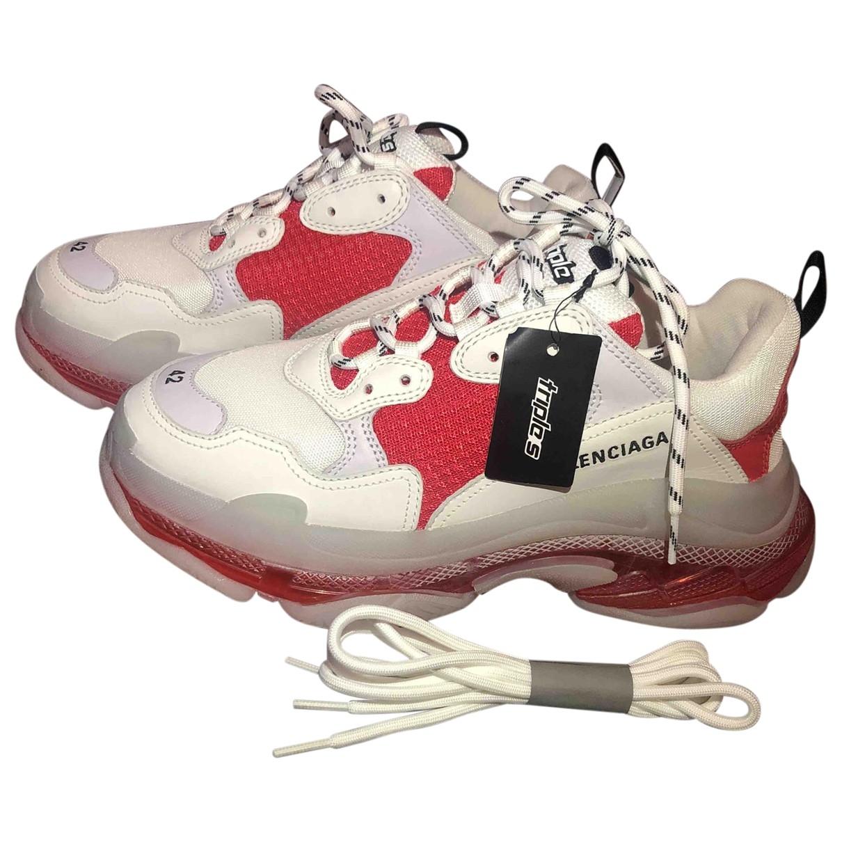 Balenciaga - Baskets Triple S pour homme - rouge