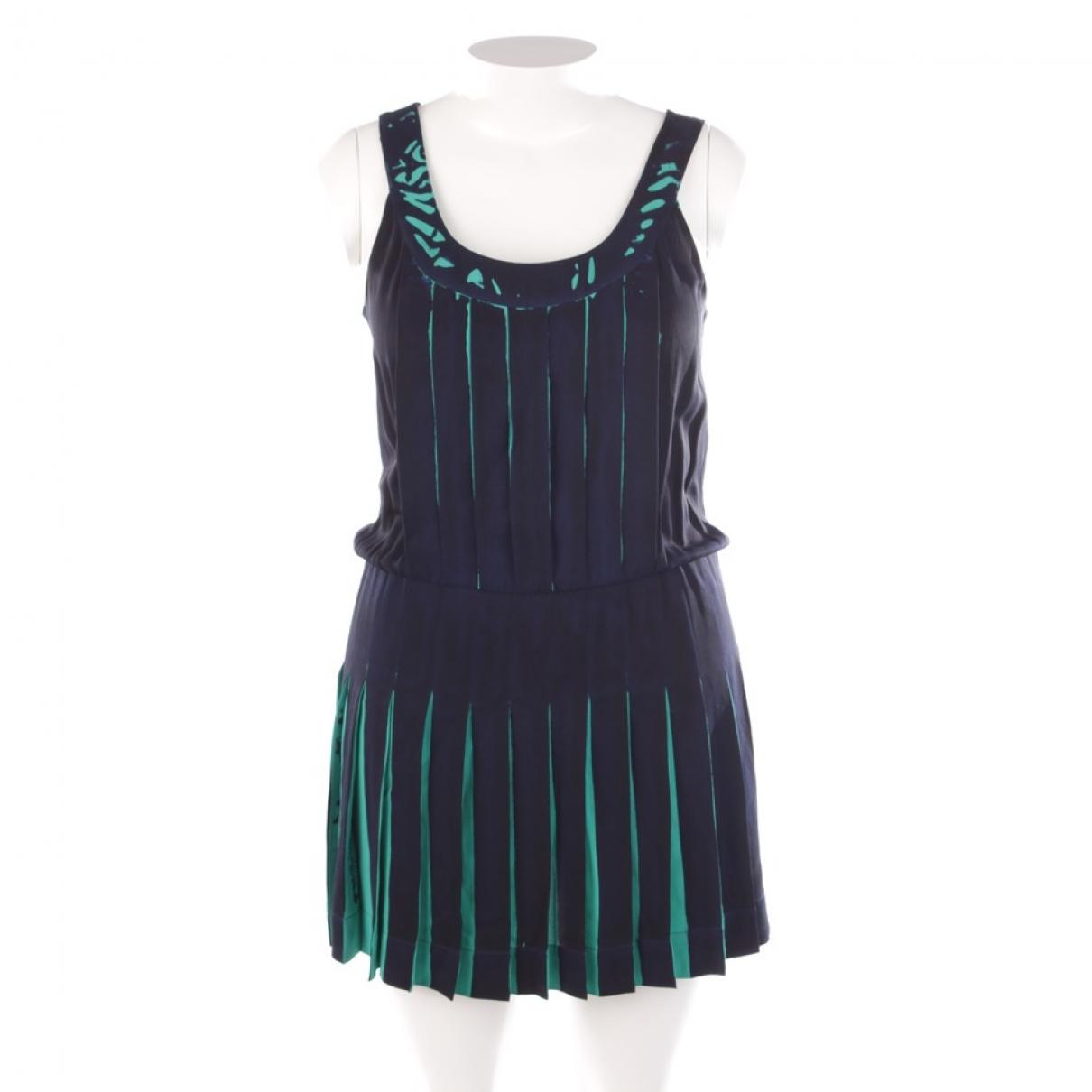 Louis Vuitton \N Kleid in  Blau Seide