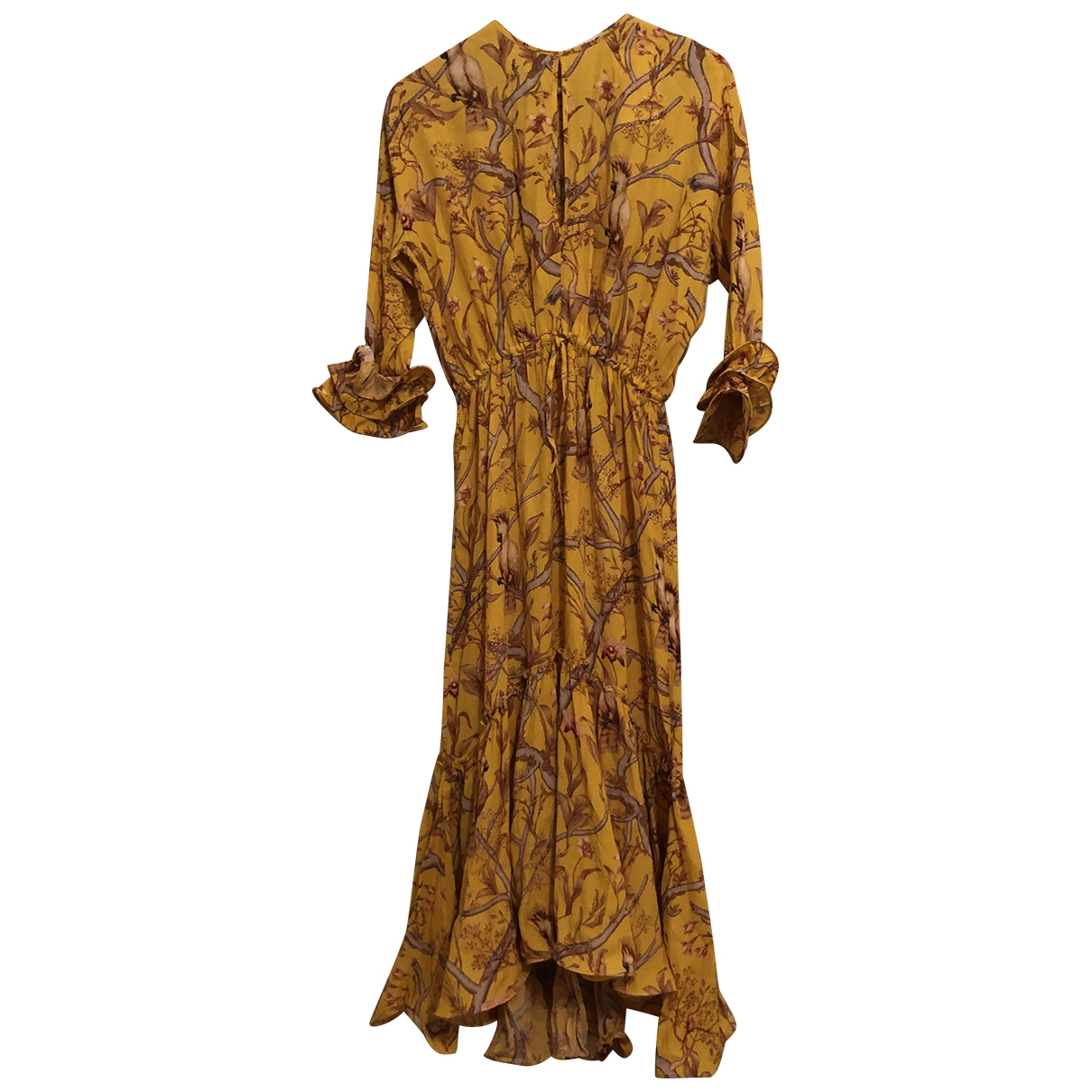 Johanna Ortiz X H&m \N Kleid in  Gelb Viskose