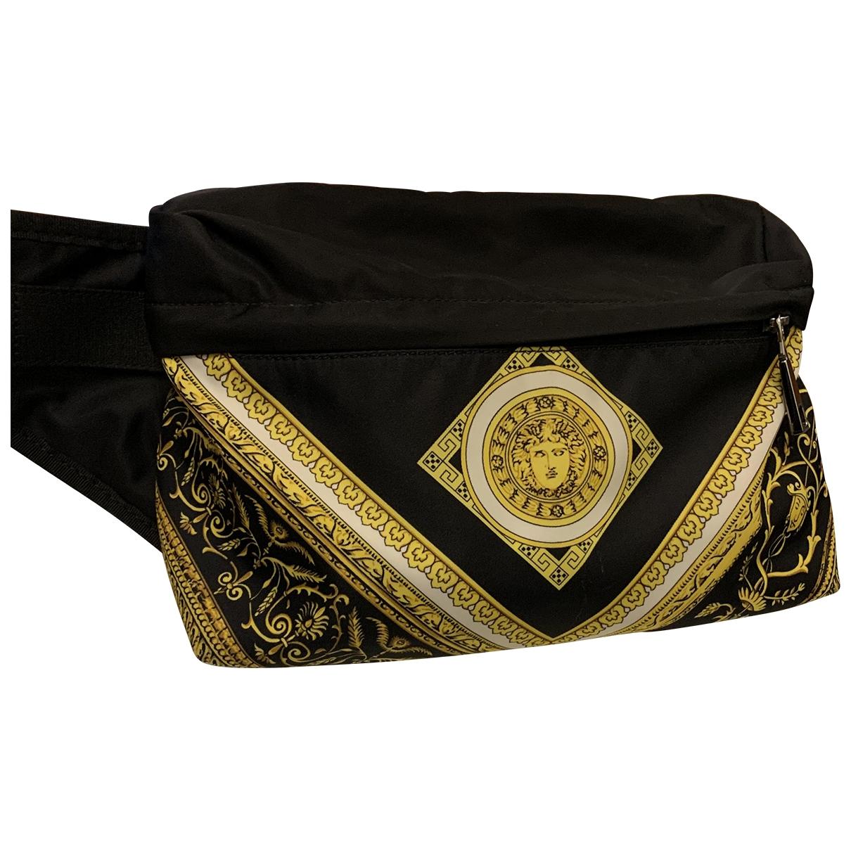 Versace - Pochette   pour femme en toile - noir