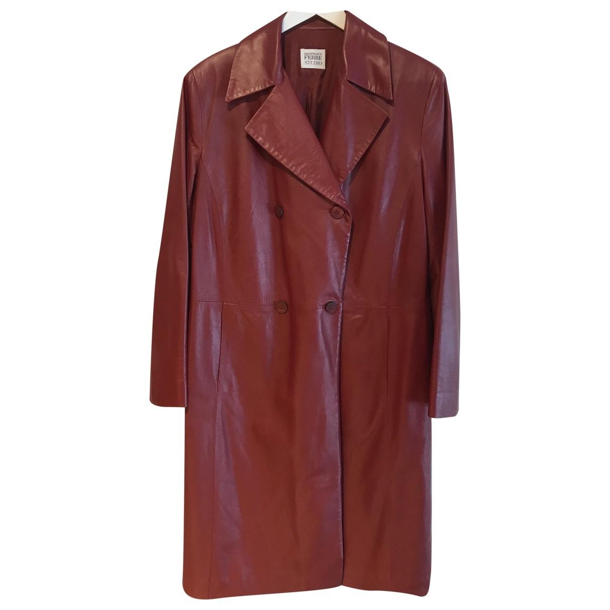 Gianfranco Ferre - Manteau   pour femme en cuir