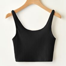 Solid Ribbed Cami