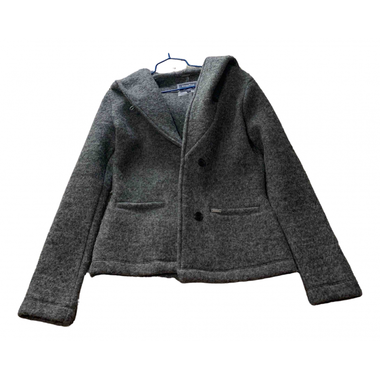 Woolrich N Grey Wool jacket for Women XS International